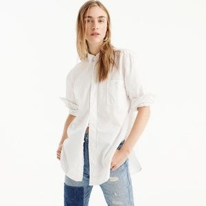 NWT J.Crew Relaxed chambray boy shirt in white